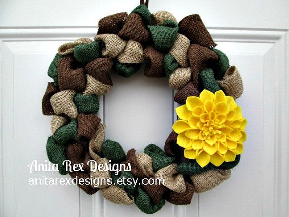 Camo Wreath, Support Our Troops, Military Wreath, Burlap Wreath, Camouflage