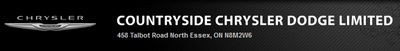 458 Talbot Street North,  Essex, ON N8M 2W6, Canada.  (519) 776-5287.  Countryside Chrysler Dodge Inc. offers a variety of new and used cars to Windsor Ontario and surrounding areas. Visit their website today!
