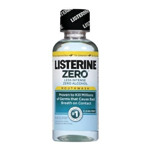 Mouthwash Listerine Zero 3.2 oz. Clean Mint Flavor | Johnson & Johnson #medical #medicalsupplies #pro2medical #health #healthcare #lifestyle #Lubbock  #fitness #exercise #body