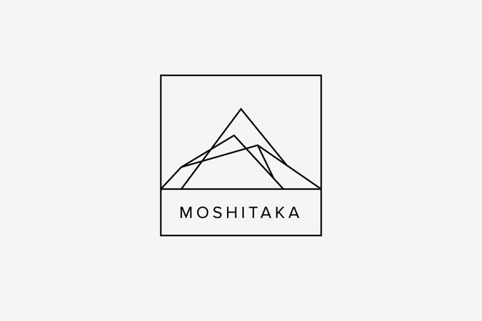 Moshitaka Logo. I like the simplicity of the lines forming a mountain.