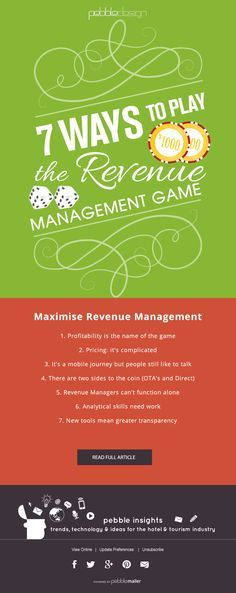 7 Ways to Play the Revenue Management Game  - Hospitality Insights #hospitalityinsights #hotelwebdesign #hotelwebsitedesign #pebbledesign #hotelwebsites
