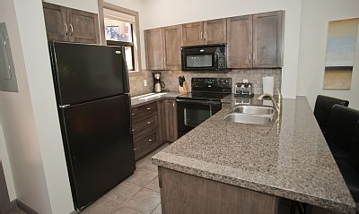 Playa del Sol 370 - Fully equipped kitchen with granite counter tops.  #kelowna #vacation #rental #vrbo #playadelsol370 www.playadelsol370.com