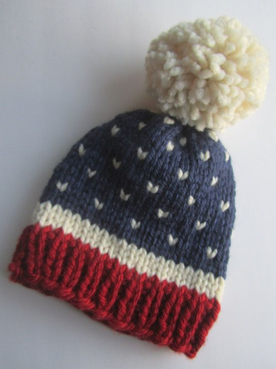 Ähnliche Artikel wie Fair Isle stricken Hut, Hut rot weiß blau Fair Isle Hut, USA, Frauen der Hut stricken, Men's Hut, Mütze stricken, US Flagge stricken Hut, klobige stricken Hut auf Etsy