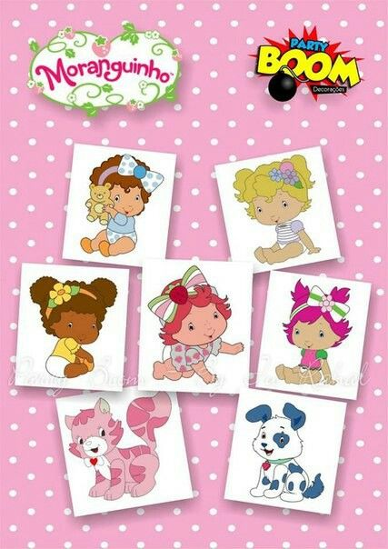 Ideas Para Fiestas Baby Illustration Strawberry Shortcake Paper Piecing Clip Art Stickers 1 Year Boy Doll Homemade Crafts
