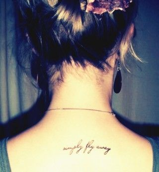 "My friend Rachel. ""simply fly away"" tattoo #tattoo #fly"