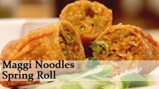 Maggi Noodles Spring Roll – Fast Food Recipe by Ruchi Bharani – Vegetarian [HD] oh man