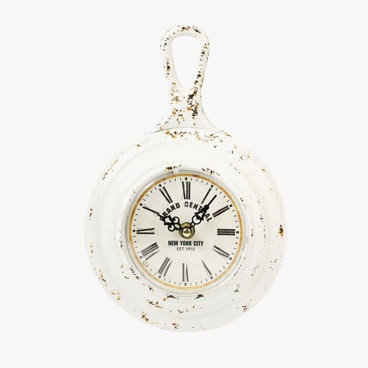 Relógio de Parede Grand Central New York Branco | referência 107867891 | A Loja do Gato Preto | #alojadogatopreto | #shoponline