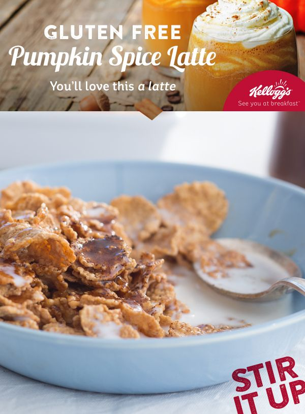 9 best new year new breakfast images on pinterest cereal drizzle pumpkin latte syrup and instant espresso powder onto a bowl of special k touch of brown sugar gluten free cereal and milk easy ccuart Choice Image