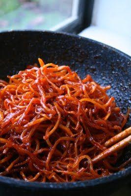 Week of Menus: Spicy Cuttlefish/Squid - Ojingo Moochim (오징어 무침) Side Dish