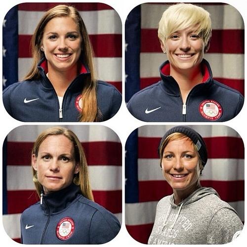 U.S. Women's Soccer. Alex Morgan, Megan Rapinoe, Christie Rampone, Abby Wambach