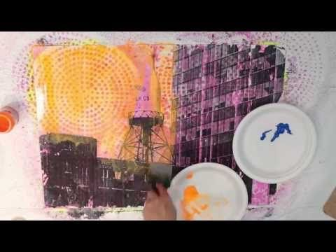 Acrylic Washes and Image Transfer on Canvas with Melanie Matthews - YouTube