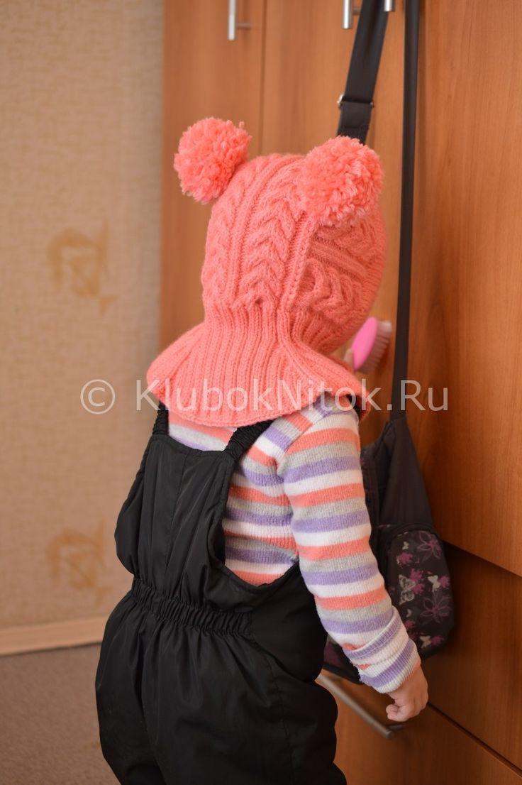 Шапочка-шлем с косами для малышки   Вязание для девочек   Вязание спицами и крючком. Схемы вязания.
