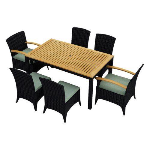 harmonia living arbor patio dining set seats 6 modern outdoor
