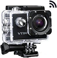 VicTsing 2.0 Inch Full HD WIFI Action Camera 12MP 1080P Sport Action Camera with Waterproof 170° Wide Angle Lens Action Camcorder with 2 Batteries and Accessories Kits For Bike Motorcycle Surfing Diving Swimming Skiing etc - Black