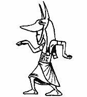 Üvegfestés sablon  : Anubis/Egyiptom, Vallás