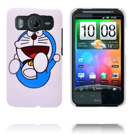 Happy Cartoon (Blå Katt) HTC Desire HD Deksel