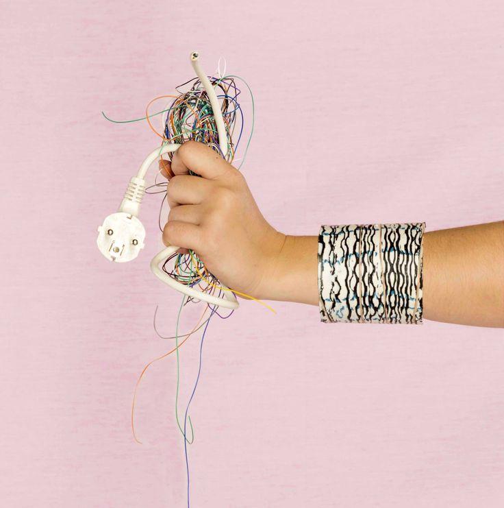 x amount of cable waste equals 1 bracelet