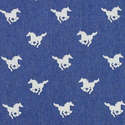 Denim Little Horse 1 - Cotton - Polyester - Spandex - denim