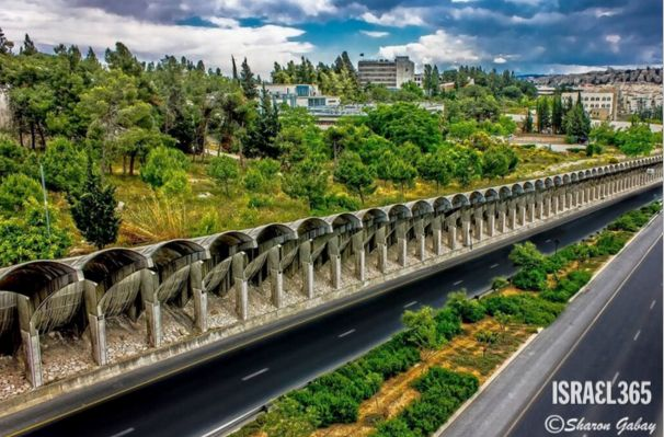 Jerusalem's Menachem Begin Highway. The road is named after Israel's sixth Prime Minister, and local Jerusalemites simply refer to it as 'Begin.''