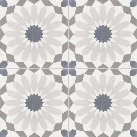 Carreaux de ciment - décors 4 carreaux - Carreau RE 10.33.07.27 - Couleurs & Matières