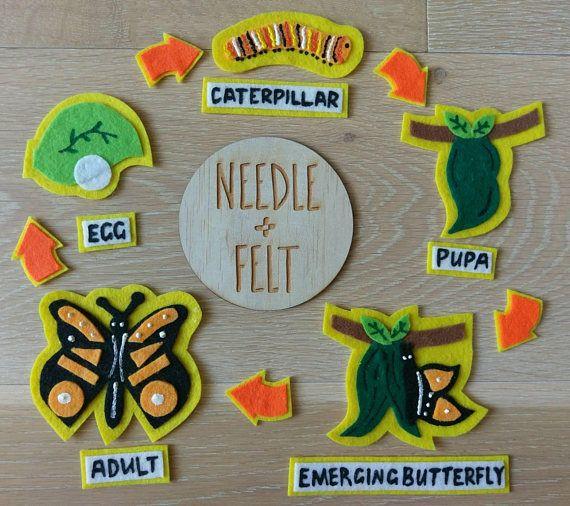 Caterpillar Life Cycle Felt Board Kit