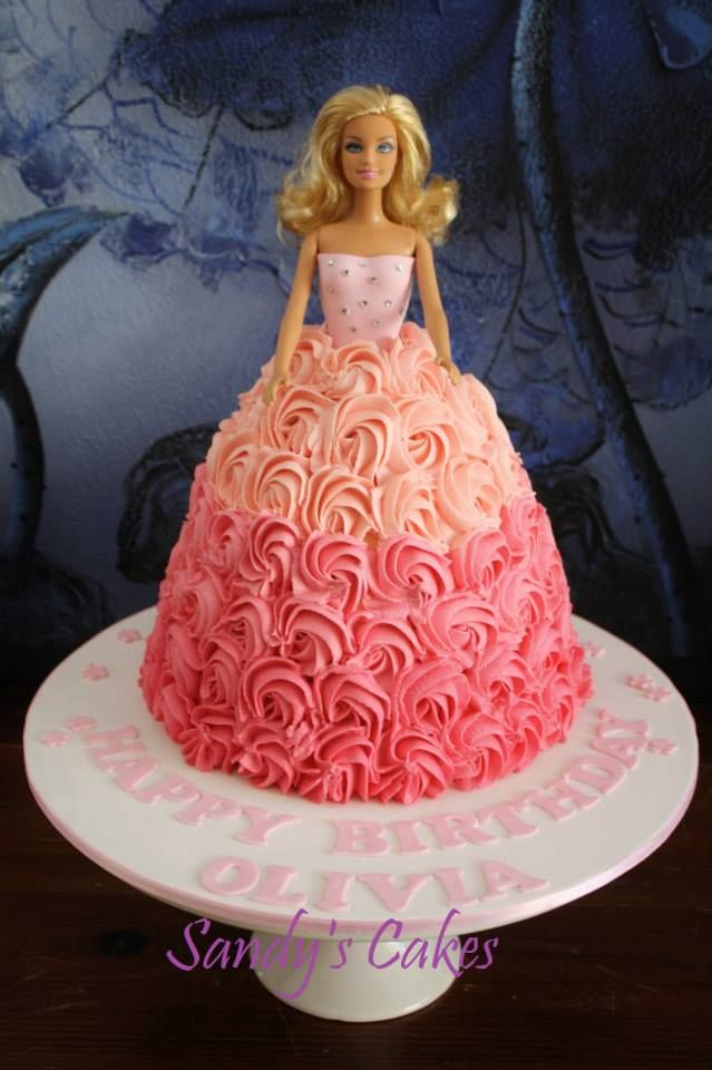 Pictures of barbie dress cakes