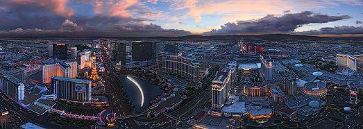 Luminous Las Vegas at Dusk and Night  - AirPano.com • 360 Degree Aerial Panorama • 3D Virtual Tours Around the World