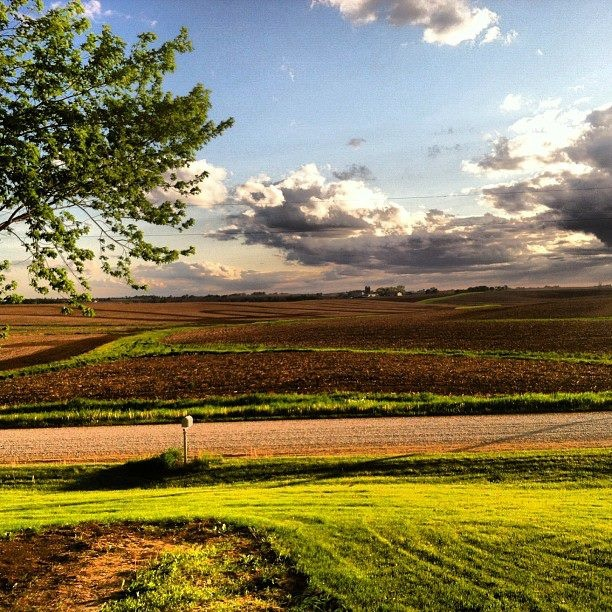 Iowa.....I love it more now, than I did when I was a teenager..I smile every time I enter the state, be it North, South, West, or East!