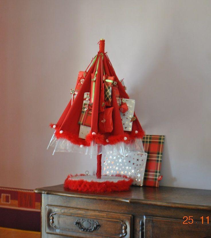 Un parapluie pleins de cadeaux