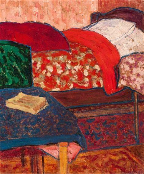 Pierre Paulus - le couvre-lit rouge
