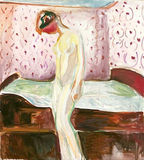 Edvard Munch, Weinende Frau, 1907-1909