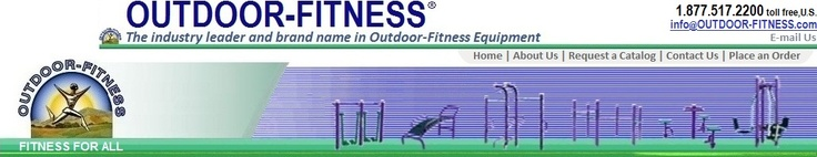 Outdoor Fitness Equipment in the forest