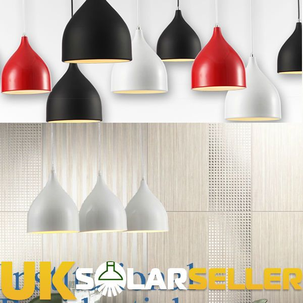New Black White Red Retro Style Ceiling Pendant Light Lamp Shade Lampshade
