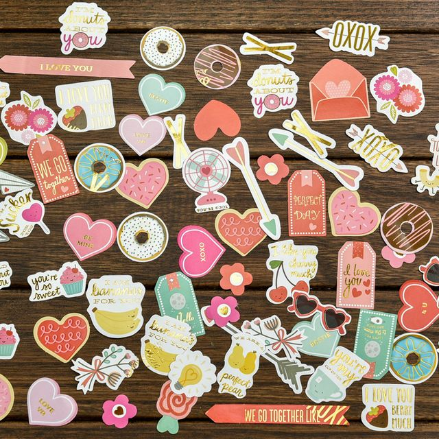 68pcs I Love You Stickers Scrapbooking/Card Making/Journaling Project DIY