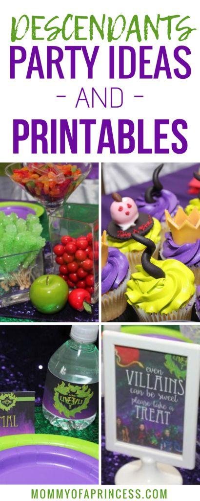 Descendants Birthday Party Ideas + Free Printables!