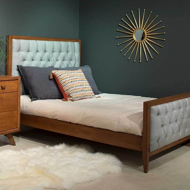 Skylar Bed With Tufted Panels Bed Modern Baby Furniture Modern