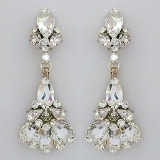 Erin Cole Couture Bridal Jewelry Unique Crystal Chandelier Earrings For The Bride Formal Occasions