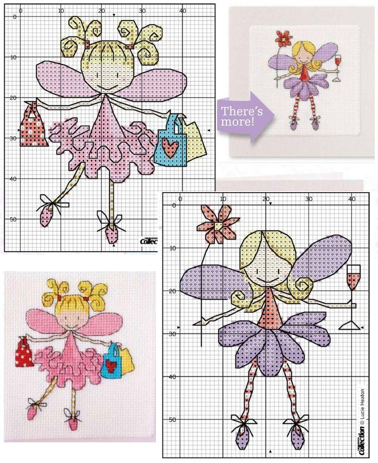 как сделать оригинальные открытки своими руками, открытка с вышивкой крестом, простые и удобные цветные схемы для вышивки крестом, феи, принцессы, балерины, миниатюры вышитые крестом