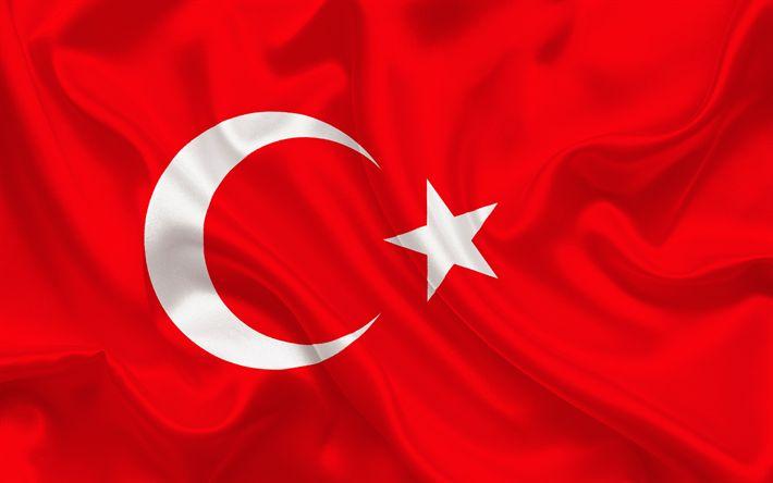 Herunterladen hintergrundbild türkische fahne, europa, türkei, flaggen der welt, die türkei-flagge
