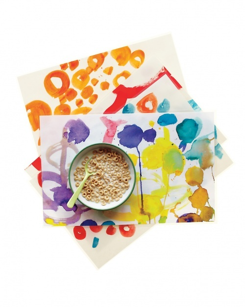 Repurposing Kids' Art - Martha Stewart Crafts use as gift wrap, gift