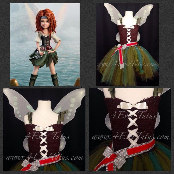 Pirate Fairy Zarina Tutu Dress by 4EverTutus on Etsy, $60.00