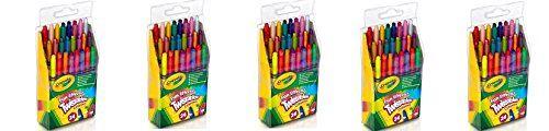 Crayola 24 Ct Twistables Fun Effect Crayons ApmUwZ, 5 pack