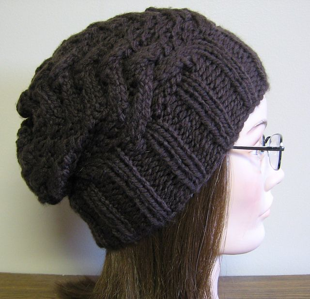 slouchy hat - free pattern I need to learn how to knit.