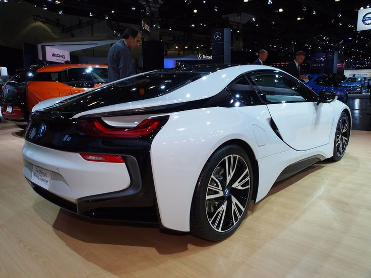 BMW i8 plug-in hybrid electric car At The Los Angeles Auto Show 2013