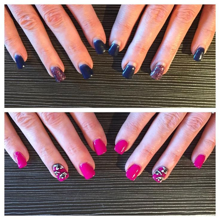 """No8 Nails (@no8nails) on Instagram: """"New Nails! Tahiti Hottie Gelish Dip with Moyou Flower Power 18 stamp #gelishdip #tahitihottie…"""""""