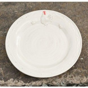 Rooster Dinner plate, farmhouse dinnerware, farmhouse, tablescape,