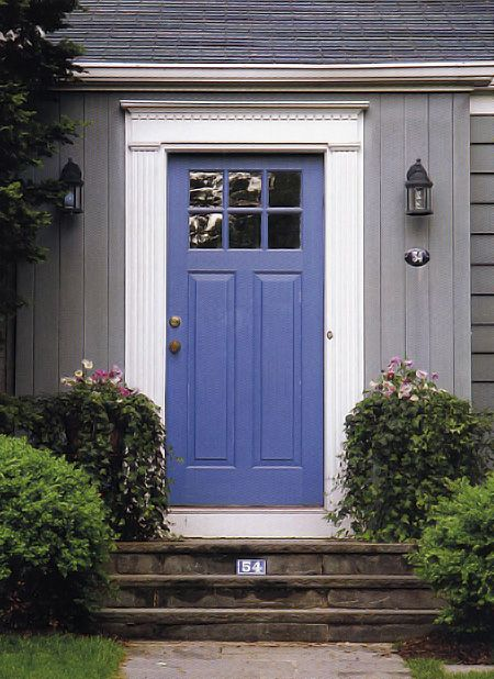 Front Door Colors For Gray House Blue Front Door 10 Of