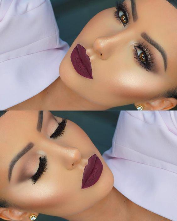 Make-up für braune Augen 2017