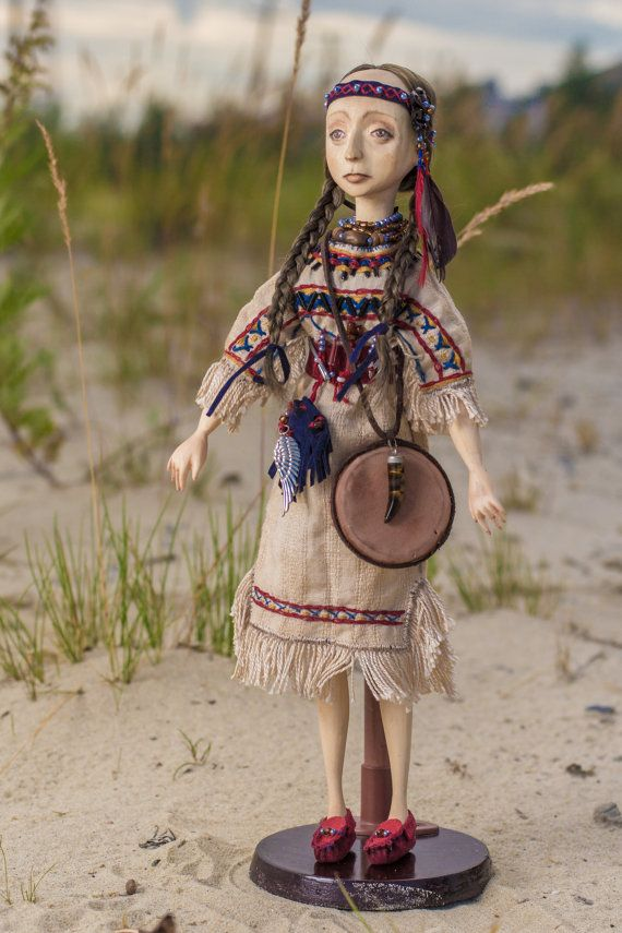 The doll made of wood. Indian girl. The by BASTET11HandMade