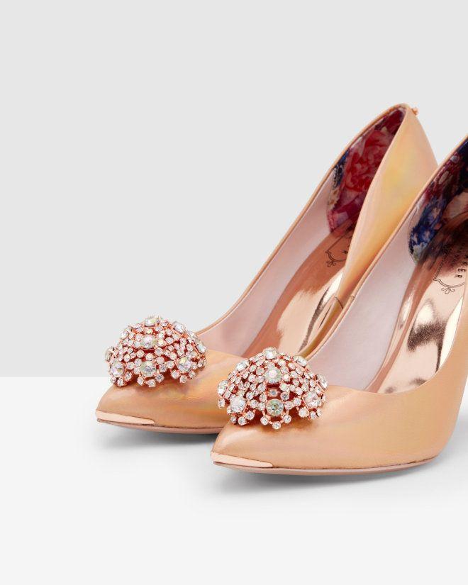 Porcelain Rose court shoes - Rose Gold | Shoes | Ted Baker